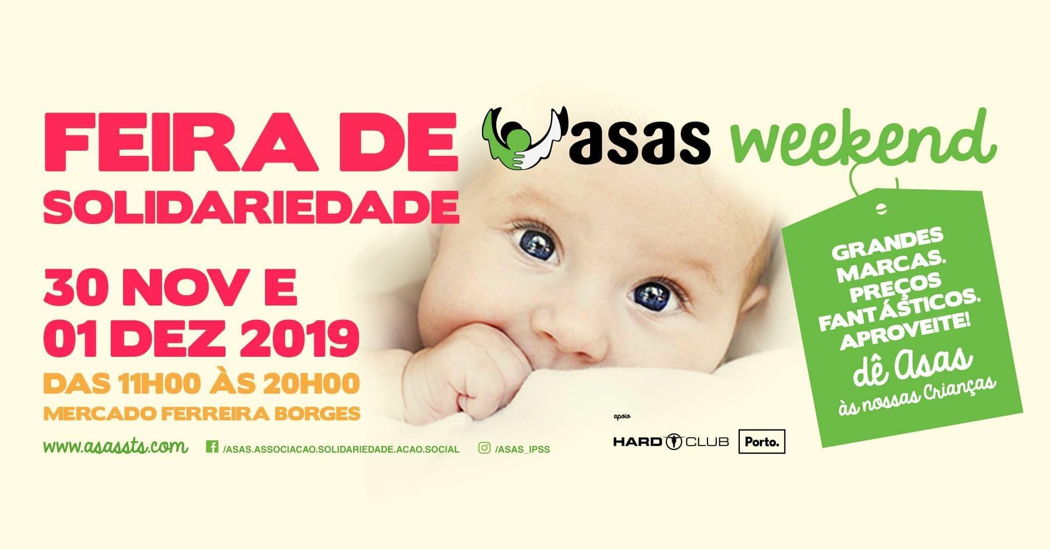ASAS WEEKEND: feira de solidariedade chega ao Porto